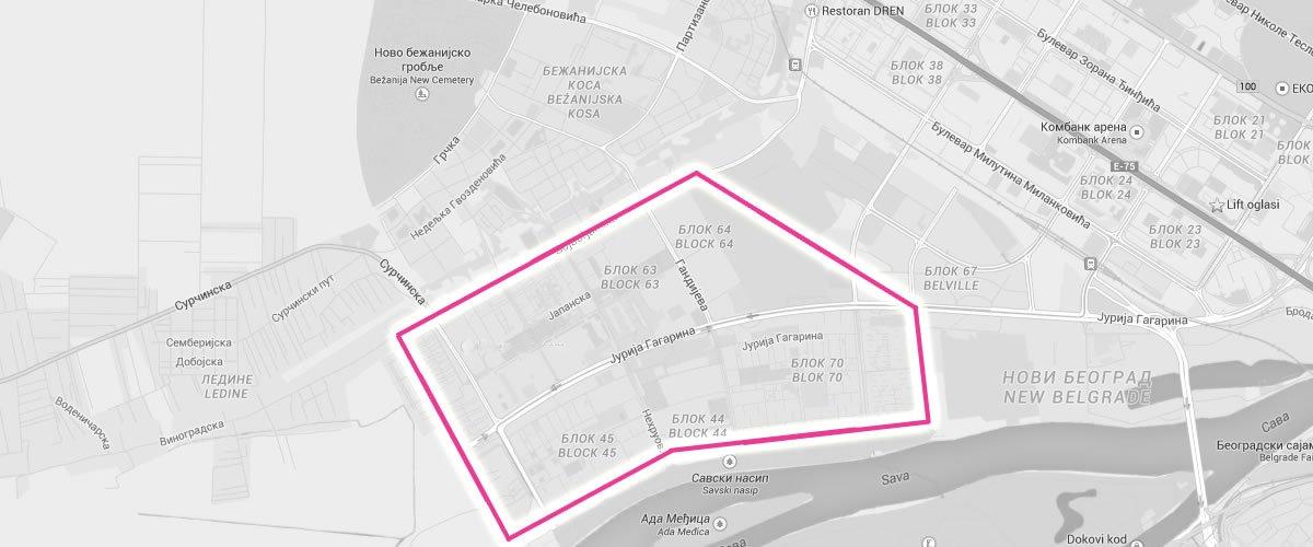 bezanijska kosa mapa Oglašavanje u zgradama oko Piramide | OKRUG 8 bezanijska kosa mapa