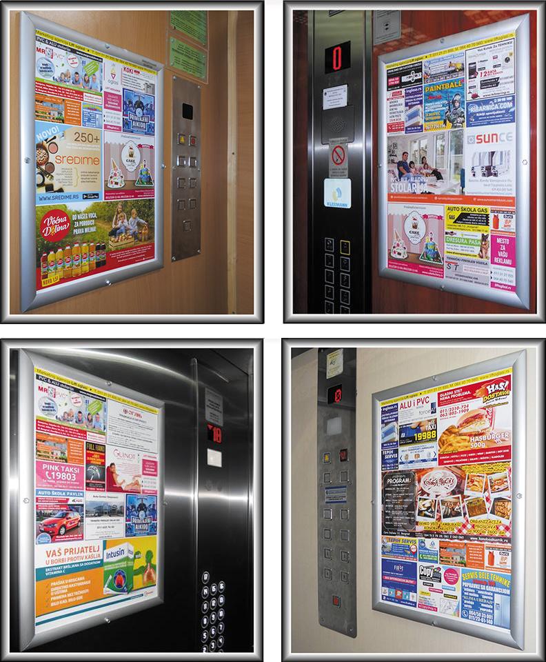 Primer reklame u liftovima