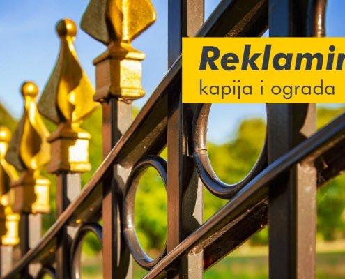 Reklamiranje kapija i ograda