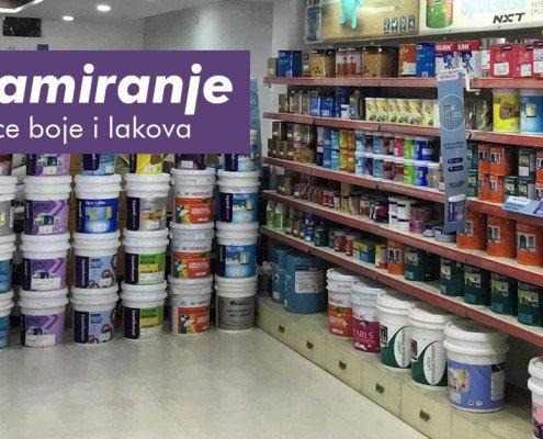 Reklamiranje prodavnice boje i lakova