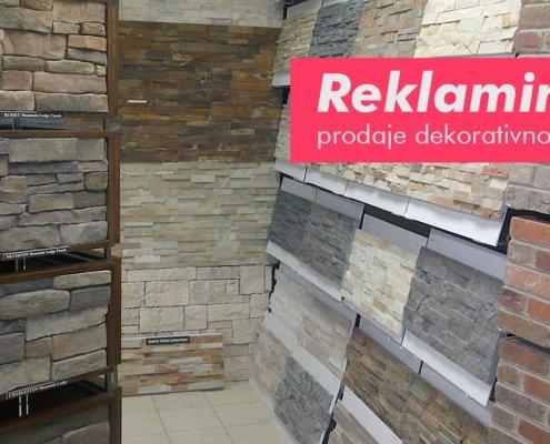Reklamiranje prodaje dekorativnog kamena