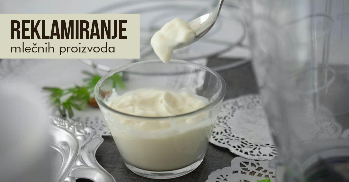 kako reklamirati mlecne proizvode